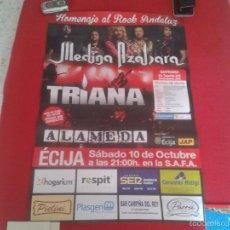 Música de colección: ESCASO CARTEL POSTER HOMENAJE AL ROCK ANDALUZ CONCIERTO DE TRIANA ALAMEDA Y MEDINA AZAHARA MUSICA . Lote 60338191