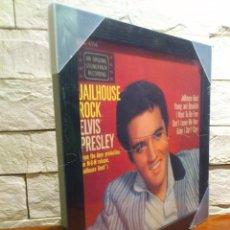 Música de colección: ELVIS PRESLEY - JAILHOUSE ROCK - MARCO DE ALBUM VINILO - MADERA Y CRISTAL - PRECINTADO - NUEVO. Lote 62479736