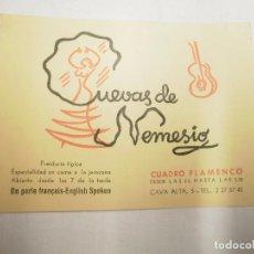 Música de colección: TARJETA PROPAGANDA CUEVAS DE NEMESIO. CUADRO FLAMENCO. Lote 63937407