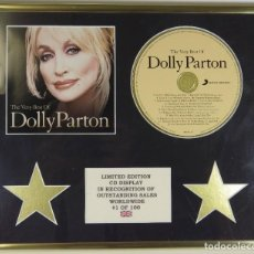 Música de colección: MUY BONITO CD DISPLAY DE DOLLY PARTON IDEAL PARA FANS DE LA CANTANTE Y ACTRIZ EDICION LIMITADA A 100. Lote 202522603