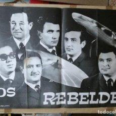 Musica di collezione: CARTEL 100X70 CM.LOS REBELDES.1967 ORQUESTA. Lote 64298915