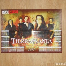 Música de colección: POSTER TIERRA SANTA ROCK ESTATAL. CALENDARIO 2011 AÑOS DE FUEGO. TDKR25. Lote 64929487