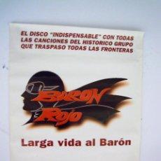 Música de colección: THE BEATLES:BARON ROJO POSTER PROMOCIONAL DE TIENDA-UNICO-ORIGINAL LAMINADO-COLECCION. Lote 68767229