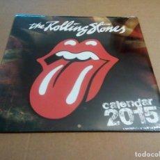 Música de colección: THE ROLLING STONES - CALENDARIO 2015 (PARED, CERRADO 30'5 X 3055 CM, ISBN 978-1-78054-740-4). Lote 69535665