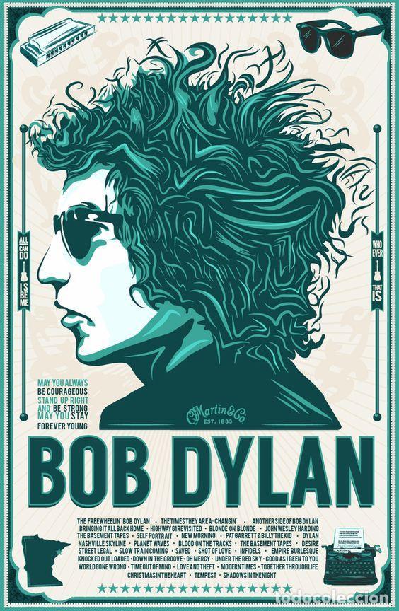 bob dylan - cartel promo !! cartel concierto 30 - Comprar en ...