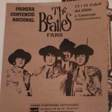 Música de colección: CARTEL PÓSTER PRIMERA CONVENCIÓN NACIONAL THE BEATLES FANS VALENCIA 70 X 50. Lote 70540761