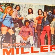 Música de colección: CARTEL GRUPO DE MUSICA SHOW MILLER. BERTA. 65X95 CM. Lote 71248043