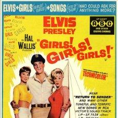 Música de colección - elvis presley - Elvis, Girls Girls Girls !! CARTEL CLASSIC CINE 30X40 - 73619258