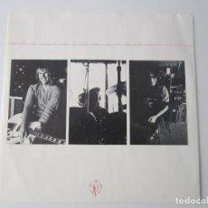 Música de colección: RUSH - CARPETA BLANDA INTERIOR DEL LP PERMANENT WAVES 1980 USA (SIN DISCO). Lote 77115611