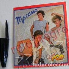Música de colección: ANTIGUA PEGATINA MECANO SUPER POP GRUPO ESPAÑOL DE MÚSICA ESPAÑA ANA TORROJA NACHO CANO SUPERPOP. Lote 77880165