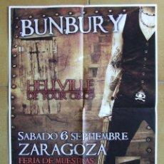 Música de colección: HEROES DEL SILENCIO BUNBURY CARTEL GIRA HELLVILLE CONCIERTO ZARAGOZA TAMAÑO A3. Lote 205244086