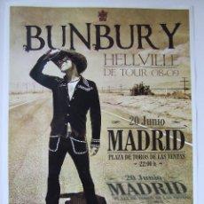 Música de colección: HEROES DEL SILENCIO BUNBURY CARTEL GIRA HELLVILLE CONCIERTO MADRID TAMAÑO A3. Lote 205243842