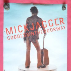 Música de colección: MICK JAGGER - GODDESS IN THE DOORWAY - GRAN CARTEL FRANCES - 2002 - 60 X 90 - EX ROLLING STONES. Lote 80393605