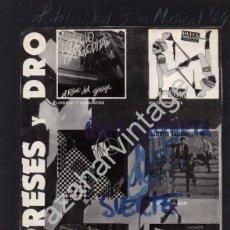 Música de colección: CARTEL PUBLICITARIO 3 CIPRESES Y DRO, LOQUILLO, DULCE VENGANZA,SADE, CARDIACOS.ETC..17X28 CMS. Lote 82025616