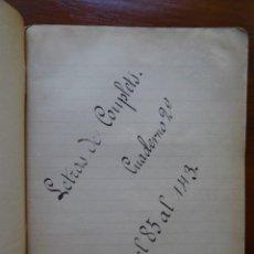 Música de colección: CUPLÉ, LIBRETA CON LETRAS MANUSCRITAS DE 58 COUPLETS, . Lote 83404768