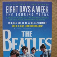 Música de colección: PPRLY - FLYER THE BEATLES: EIGHT DAYS A WEEK THE TOURING YEARS. Lote 83999580
