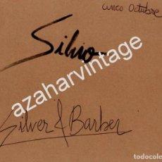 Música de colección: AUTOGRAFO ORIGINAL DEL ROCKERO SEVILLANO SILVIO FERNANDEZ Y SILVER&BARBER, DON CURRO, UNA RELIQUIA. Lote 84358476