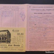 Música de colección: SADABA ( ZARAGOZA ) CONTRATO DE LA ORQUESTA GRAN AVENIDA ( TAMARITE ) PARA TOCAR EN EL CASINO. Lote 84431096