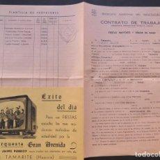 Música de colección: UNCASTILLO ( ZARAGOZA ) CONTRATO DE LA ORQUESTA GRAN AVENIDA ( TAMARITE ) AÑO 1966 / CASINO ESPAÑA. Lote 84529808