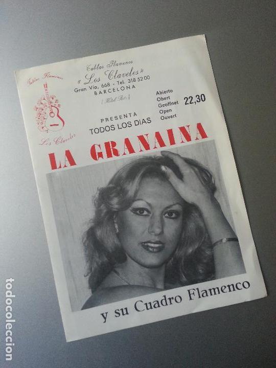 LA GRANAINA Y SU CUADRO FLAMENCO GÜITO Y SU COMBO GITANO TABLAO HOTEL RITZ LOS CLAVELES BARCELONA (Música - Varios)