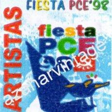 Música de colección: MADRID,1998, BACK STAGE FIESTA DEL PCE, AUTOGRAFIADO POR LOQUILLO, MUY RARO. Lote 88117740