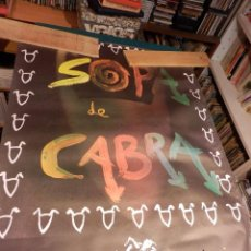 Música de coleção: SOPA DE CABRA - PRIMER DISCO - SALSETA DISCOS - POSTER 91 X 67,5 CM. - ROCK EN CATALÀ. Lote 89260828