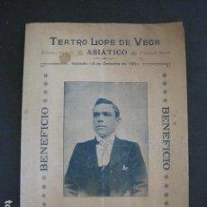Música de colección: TEATRO LOPE DE VEGA - PROGRAMA AÑO 1901- MANUEL FERNANDEZ -VER FOTOS(V- 11.616). Lote 89680408