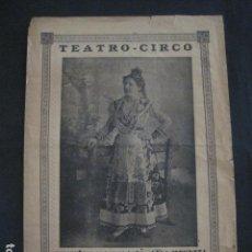 Música de colección: TEATRO CIRCO - PROGRAMA AÑO 1902- LOLA MENDOZA -VER FOTOS-(V- 11.619). Lote 89681048