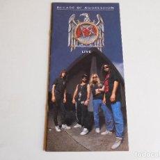 Música de colección: LIBRETO ORIGINAL. SLAYER DECADE OF AGGRESSION 1991. Lote 90915455