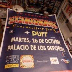 Música de colección: SCORPIONS, FACE THE HEAT TOUR '93 + DUFF (GUNS N' ROSES) PALACIO DE DEPORTES - POSTER 1,30 X 90 CM.. Lote 91055515