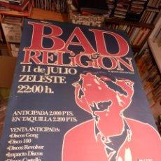 Música de colección: BAD RELIGION - CONCIERTO BARCELONA 11 JULIO - METAL HAMMER - POSTER 99 X 70 CM. (PUNK - HARD CORE). Lote 91062325