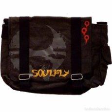 Música de colección: SOULFLY - BLACK COTTON CANVAS MESSENGER BAG - OFFICIAL,NUEVA. Lote 92123510