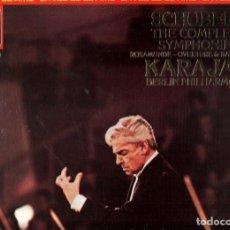 Música de colección: DISCO/VINILO-LP: SCHUBERT / KARAJAN : THE COMPLETE SYMPHONIES (ESTUCHE 4 VINILOS). Lote 77582955