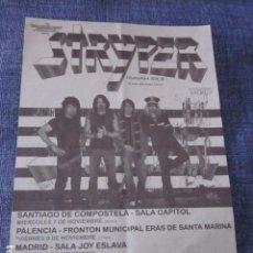 Música de colección: STRYPER - FLYER GIRA ESPAÑOLA 2007 - CON SACRED COMO TELONEROS.. Lote 96508571