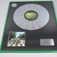 Música de colección: DISCO DE PLATINO THE BEATLES - ABBEY ROAD - EDICIÓN LIMITADA Nº3. Lote 96862731