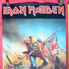 Música de colección: IRON MAIDEN - THE TROOPER - GRAN CARTEL 92 X 62 CM APROX - POSTERS MINERVA -1986. Lote 97072975