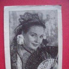 Música de colección: CARMEN SEVILLA.-OBSEQUIO DE LA REVISTA FLORITA.-MUSICA.-TARJETA.-AÑO 1960.. Lote 97645871