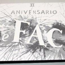 Música de colección: INVITACION DISCOTECA THE FACE II ANIVERSARIO. VALENCIA. AÑOS 2000. Lote 97693619
