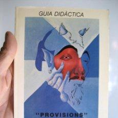 Música de colección: GUÍA DIDÁCTICA - REMIGI PALMERO - PROVISIONS - LLETRA I MÚSICA - MARIA JOSEP ALBERT GEMMA LLUCH. Lote 100314847