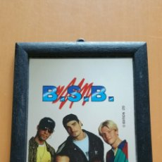 Música de colección: BSB BACKSTREET BOYS CUADRO ESPEJO VINTAGE 17 X 12 CMS. Lote 101635658