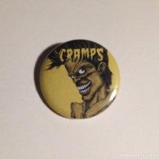 Música de colección: THE CRAMPS - BAD MUSIC FOR BAD PEOPLE CHAPA 31MM (CON IMPERDIBLE) - PSYCHOBILLY GARAGE PUNK. Lote 195426825