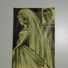 Música de colección: LETRA DE CANCION LA NOVIA. ANTONIO PRIETO. DISCOS RCA. TDKP2. Lote 101979683