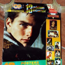 Música de colección: POSTER SITO PONS Y TOM CRUISE PORTADA ESPECIAL REVISTA SUPER POP - SUPERPOP - AÑOS 80. Lote 102080323