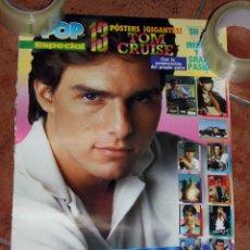 Música de colección: POSTER TOM CRUISE PORTADA ESPECIAL REVISTA SUPER POP - SUPERPOP - AÑOS 80. Lote 102080459