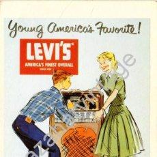 Música de colección: TARJETA PUBLICITARIA DE LEVIS, CON AUTOGRAFO DE LOQUILLO. Lote 102785687
