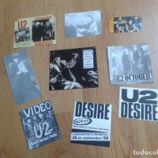 Música de colección: U2 - 9 RECORTES VARIOS DE REVISTAS Y PUBLICIDAD - AÑOS 80 Y 90 -. Lote 165625346