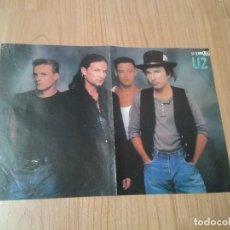 Música de colección: U2 - POSTER CARTEL - ÉPOCA RATTLE AND HUM - REVISTA POPCORN - 40 X 30 CM - ERASURE EN EL REVERSO. Lote 103671715