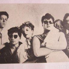 Música de colección: TARJETA CON FOTO/TEXTO DISTRITO 5 (MANOLO GARCIA/QUIMI PORTET) - H.E.I.D.A.I./ESTO FALLA 1983 SPAIN. Lote 103832043