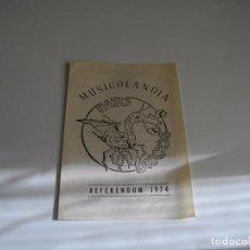 Música de colección: PUBLICIDAD DISCOGRAFICA DE MUSICOLANDIA- PATO-DISCOS - LA DE LAS FOTOS VER TODOS MIS LOTES DE MUSICA. Lote 104345483