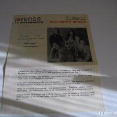 Música de colección: PUBLICIDAD DISCOGRAFICA DE -RCA - THE MAMA'S-AND THE PAPA'S - LA DE LAS FOTOS VER TODOS MIS LOTES D. Lote 104345863